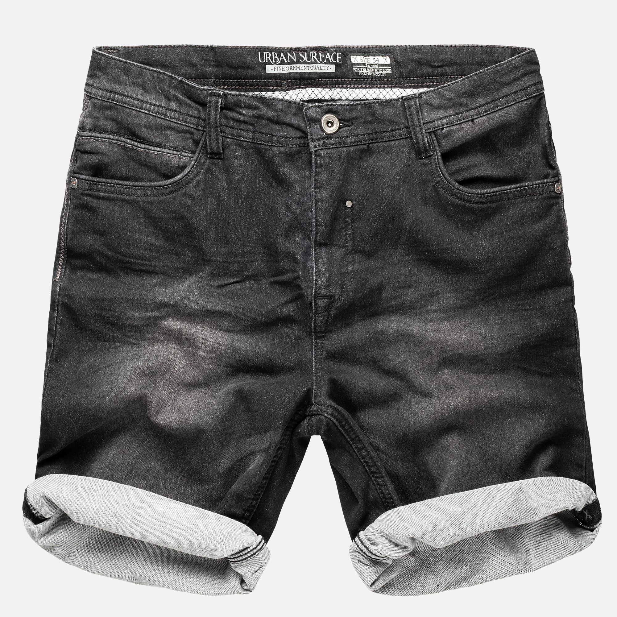 URBAN SURFACE Sweat Jeans Shorts Herren kurze Hose Short Denim Bermuda Sublevel