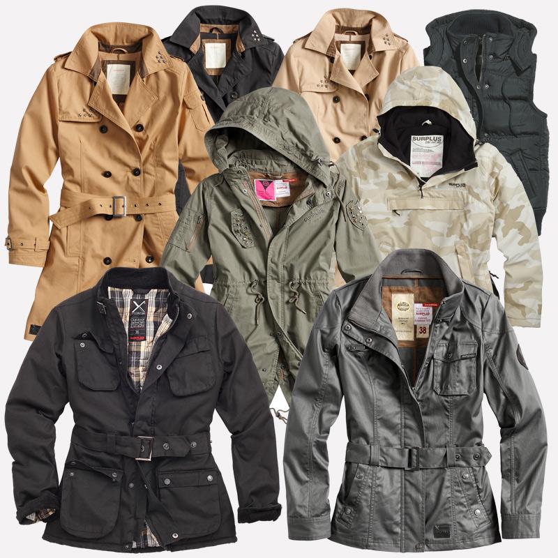 Function Outdoor Vintage™ Damen Jacke Mantel Übergang Details Raw Frühling ZuSurplus XukTPZOi