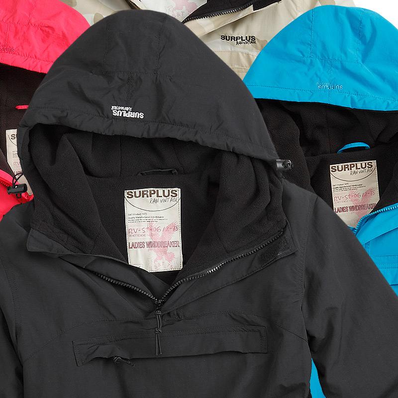 SURPLUS™ Raw Vintage Damen Winter Jacke Anorak Windbreaker Skijacke Snowboard