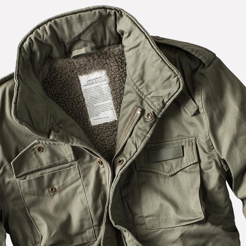 Details about Surplus Raw Vintage Mens m65 Paratrooper Mens Winter Jacket Field Jacket show original title