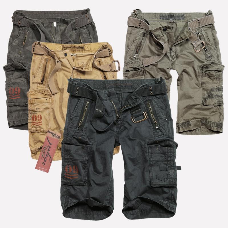 SURPLUS HOMMES CARGO SHORTS Engineer Vintage 3//4 Short Pantalon Court