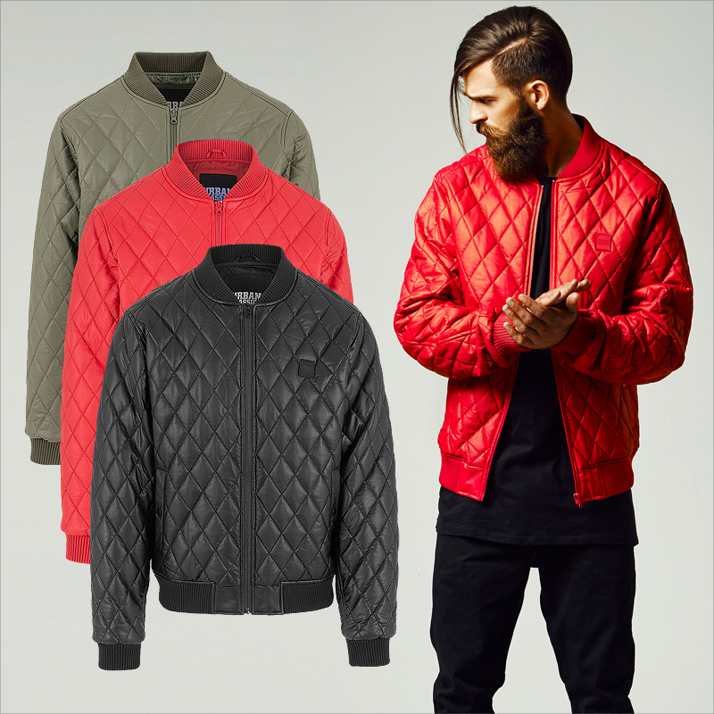Details zu Urban Classics Herren Kunst Lederjacke Kunst Leder Jacke Clubwear Rock TB1150