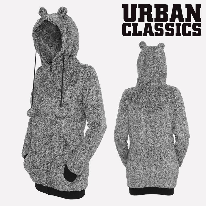 b3d17c8ed1 Urban Classics™ Damen Teddy Melange Zip Hoodie mit Ohren Hoody Jacke Ladies  NEW